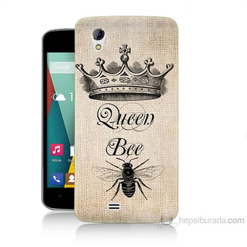 Teknomeg General Mobile Discovery 2 Mini Queen Bee Baskılı Silikon Kılıf