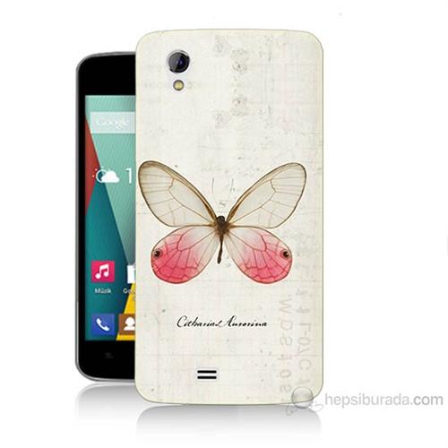 Teknomeg General Mobile Discovery 2 Mini Kelebek Etkisi Baskılı Silikon Kılıf