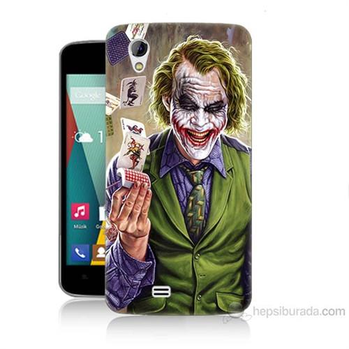 Teknomeg General Mobile Discovery 2 Mini Kartlı Joker Baskılı Silikon Kılıf