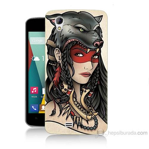 Teknomeg General Mobile Discovery 2 Mini Pocahontas Baskılı Silikon Kılıf