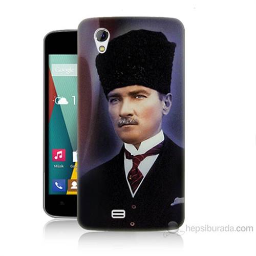 Teknomeg General Mobile Discovery 2 Mini Mustafa Kemal Atatürk Baskılı Silikon Kılıf