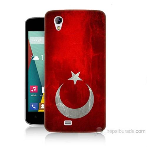 Teknomeg General Mobile Discovery 2 Mini Türkiye Bayrağı Baskılı Silikon Kılıf