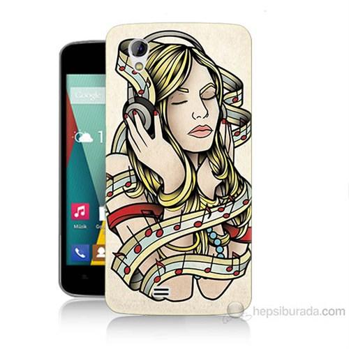 Teknomeg General Mobile Discovery 2 Mini Müzik Aşkı Baskılı Silikon Kılıf