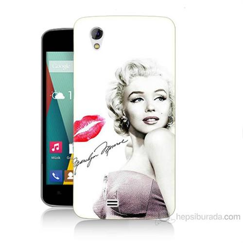 Teknomeg General Mobile Discovery 2 Mini Marilyn Monroe Baskılı Silikon Kılıf