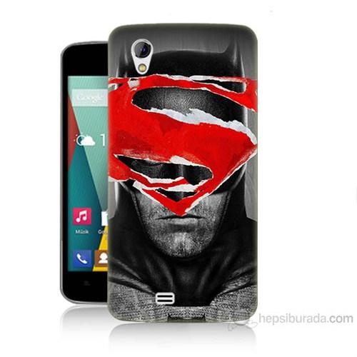 Teknomeg General Mobile Discovery 2 Mini Batman Vs Superman Baskılı Silikon Kılıf