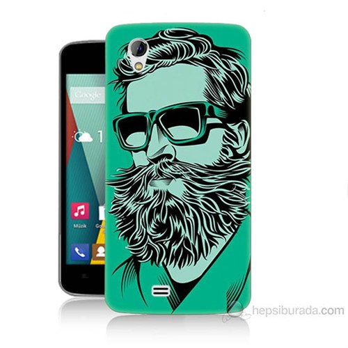 Teknomeg General Mobile Discovery 2 Mini Beard Art Baskılı Silikon Kılıf