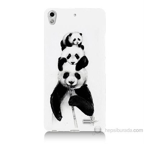Teknomeg General Mobile Discovery Air Panda Ailesi Baskılı Silikon Kılıf