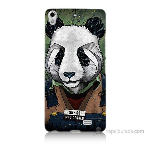 Teknomeg General Mobile Discovery Air İşçi Panda Baskılı Silikon Kılıf