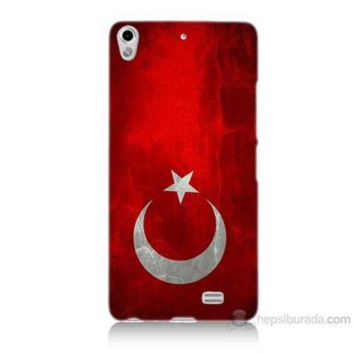Teknomeg General Mobile Discovery Air Türkiye Bayrağı Baskılı Silikon Kılıf