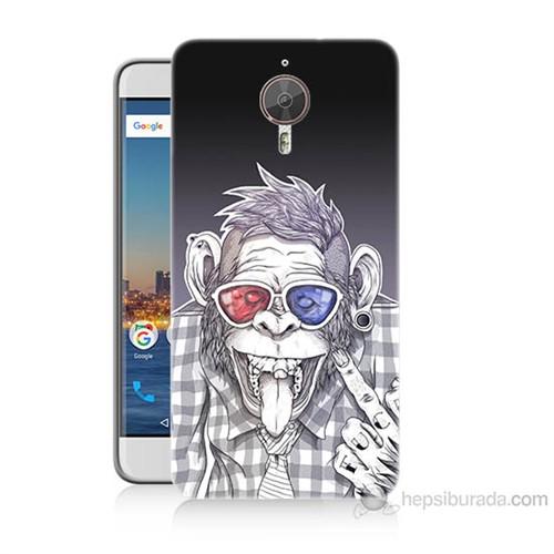 Teknomeg General Mobile Gm5 Plus Maymun Baskılı Silikon Kılıf
