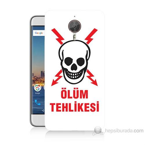Teknomeg General Mobile Gm5 Plus Ölüm Tehlikesi Baskılı Silikon Kılıf