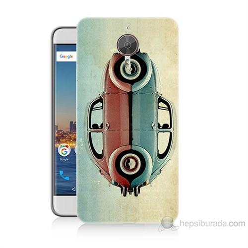 Teknomeg General Mobile Gm5 Plus Mavi Kırmızı Wolkswagen Baskılı Silikon Kılıf