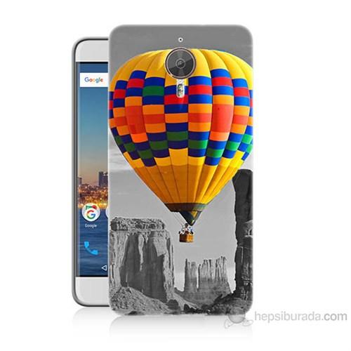 Teknomeg General Mobile Gm5 Plus Renkli Uçan Balon Baskılı Silikon Kılıf
