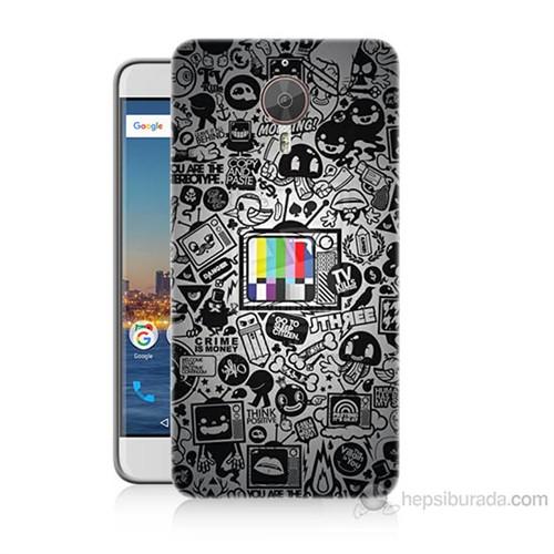 Teknomeg General Mobile Gm5 Plus Renkli Tv Baskılı Silikon Kılıf