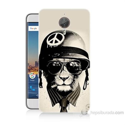 Teknomeg General Mobile Gm5 Plus Barışçı Aslan Baskılı Silikon Kılıf