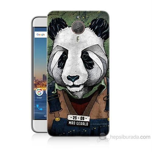 Teknomeg General Mobile Gm5 Plus İşçi Panda Baskılı Silikon Kılıf