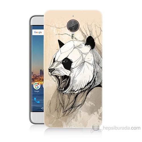 Teknomeg General Mobile Gm5 Plus Kavgacı Panda Baskılı Silikon Kılıf