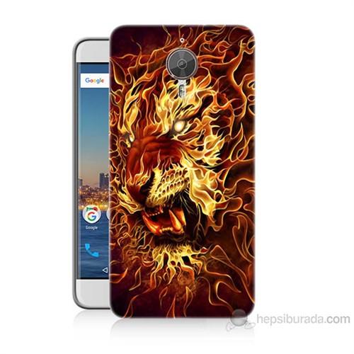 Teknomeg General Mobile Gm5 Plus Ateşli Aslan Baskılı Silikon Kılıf