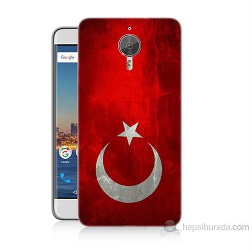 Teknomeg General Mobile Gm5 Plus Türkiye Bayrağı Baskılı Silikon Kılıf