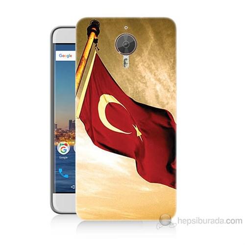 Teknomeg General Mobile Gm5 Plus Türk Bayrağı Baskılı Silikon Kılıf
