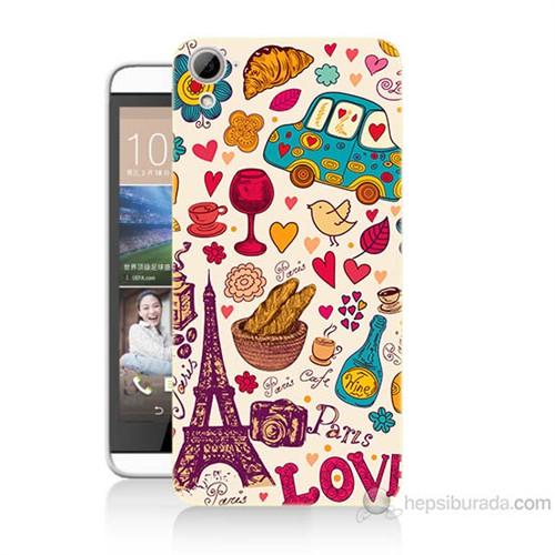 Teknomeg Htc Desire 826 Paris Love Baskılı Silikon Kılıf