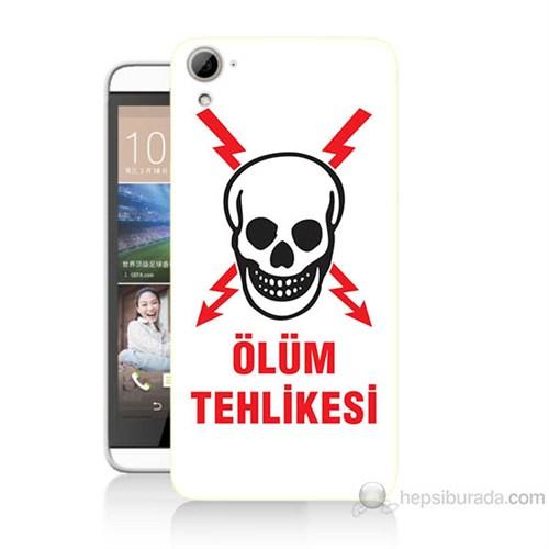 Teknomeg Htc Desire 826 Ölüm Tehlikesi Baskılı Silikon Kılıf