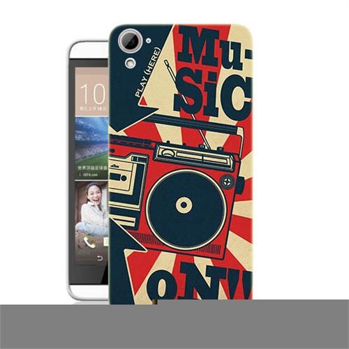 Teknomeg Htc Desire 826 Müzik Baskılı Silikon Kılıf