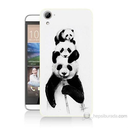 Teknomeg Htc Desire 826 Panda Ailesi Baskılı Silikon Kılıf
