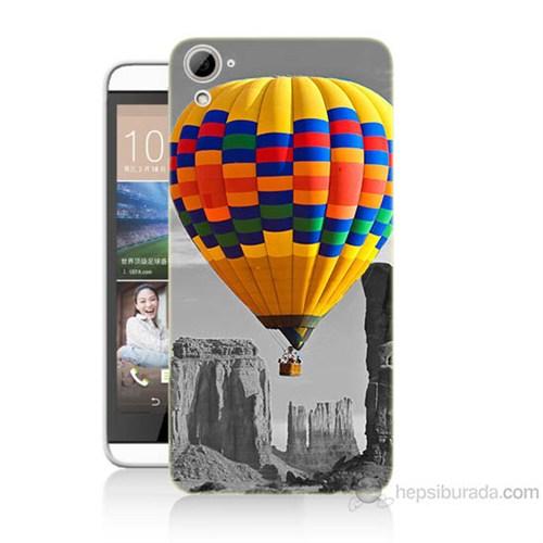 Teknomeg Htc Desire 826 Renkli Uçan Balon Baskılı Silikon Kılıf