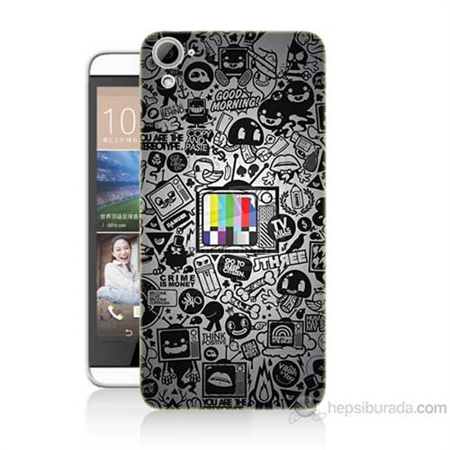 Teknomeg Htc Desire 826 Renkli Tv Baskılı Silikon Kılıf