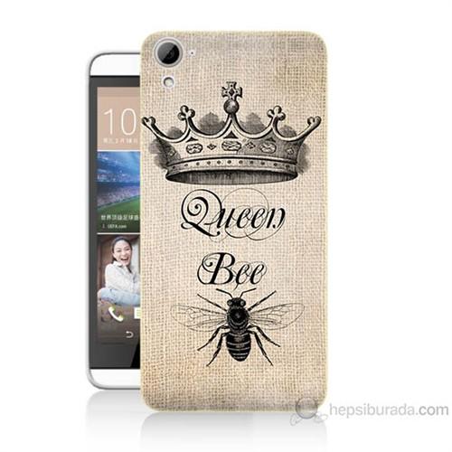 Teknomeg Htc Desire 826 Queen Bee Baskılı Silikon Kılıf