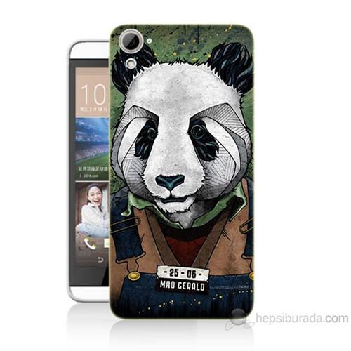 Teknomeg Htc Desire 826 İşçi Panda Baskılı Silikon Kılıf