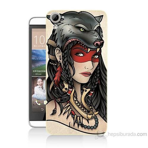 Teknomeg Htc Desire 826 Pocahontas Baskılı Silikon Kılıf