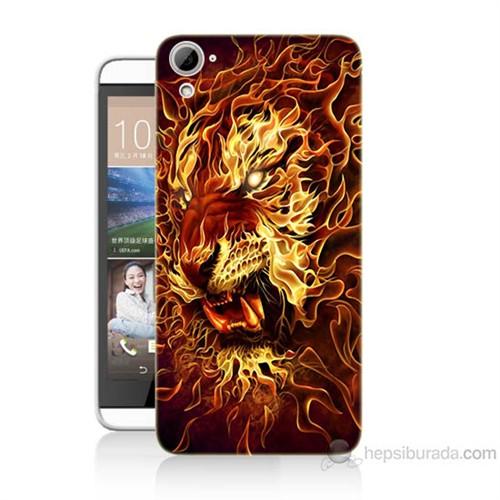 Teknomeg Htc Desire 826 Ateşli Aslan Baskılı Silikon Kılıf