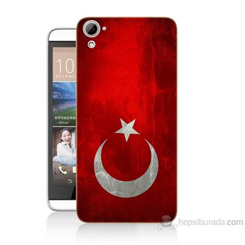 Teknomeg Htc Desire 826 Türkiye Bayrağı Baskılı Silikon Kılıf