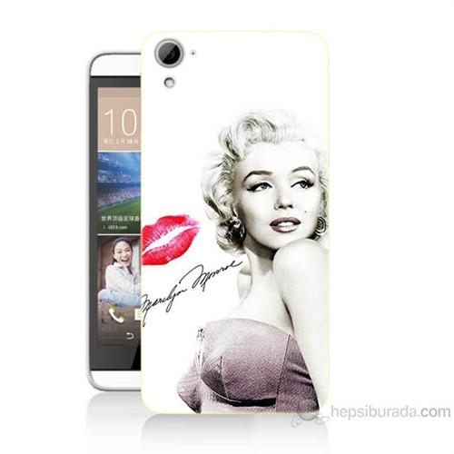 Teknomeg Htc Desire 826 Marilyn Monroe Baskılı Silikon Kılıf