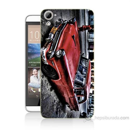 Teknomeg Htc Desire 826 Klasik Araba Baskılı Silikon Kılıf