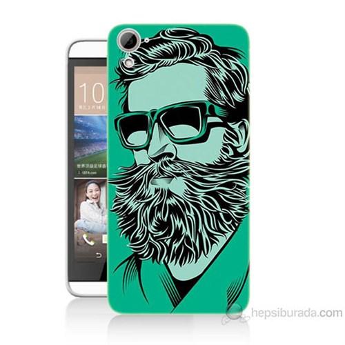 Teknomeg Htc Desire 826 Beard Art Baskılı Silikon Kılıf