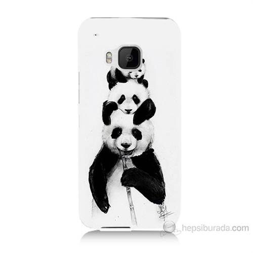 Teknomeg Htc One M9 Panda Ailesi Baskılı Silikon Kılıf