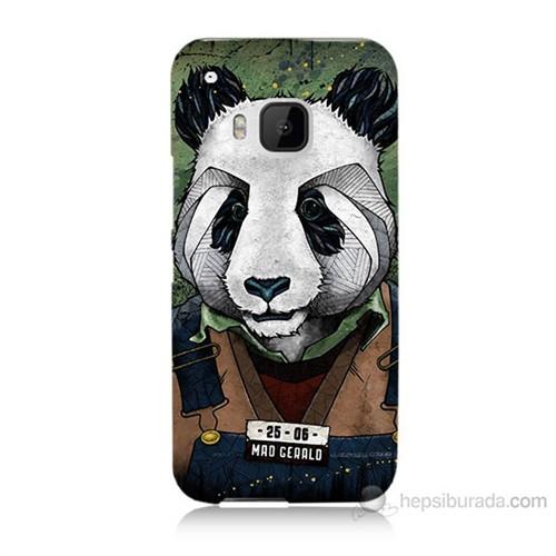 Teknomeg Htc One M9 İşçi Panda Baskılı Silikon Kılıf