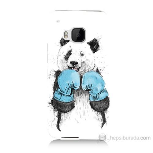 Teknomeg Htc One M9 Boksör Panda Baskılı Silikon Kılıf