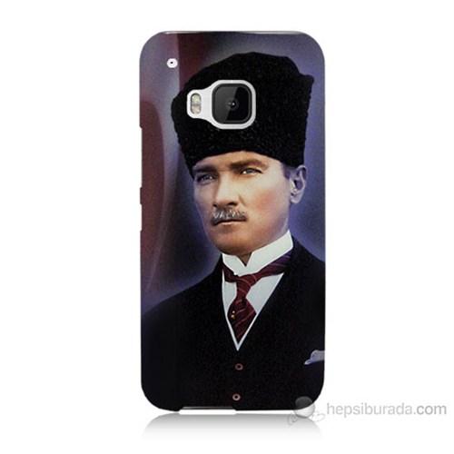 Teknomeg Htc One M9 Mustafa Kemal Atatürk Baskılı Silikon Kılıf