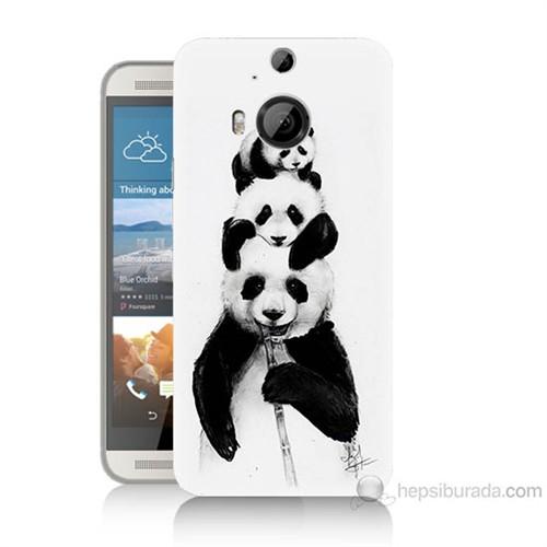 Teknomeg Htc One M9 Plus Panda Ailesi Baskılı Silikon Kılıf