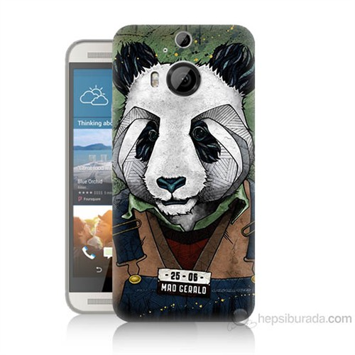 Teknomeg Htc One M9 Plus İşçi Panda Baskılı Silikon Kılıf