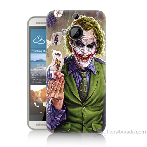 Teknomeg Htc One M9 Plus Kartlı Joker Baskılı Silikon Kılıf