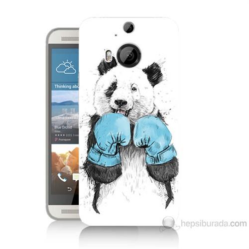 Teknomeg Htc One M9 Plus Boksör Panda Baskılı Silikon Kılıf