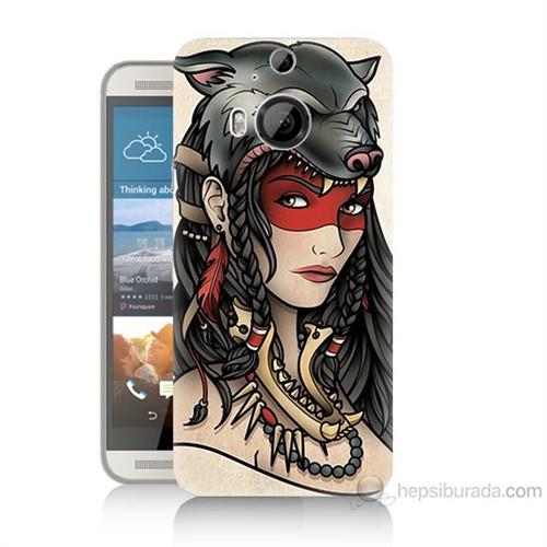 Teknomeg Htc One M9 Plus Pocahontas Baskılı Silikon Kılıf