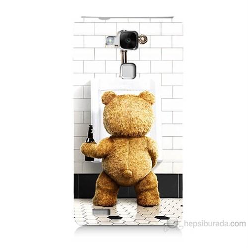 Teknomeg Huawei Ascend Mate 7 Tedy Bear Baskılı Silikon Kılıf