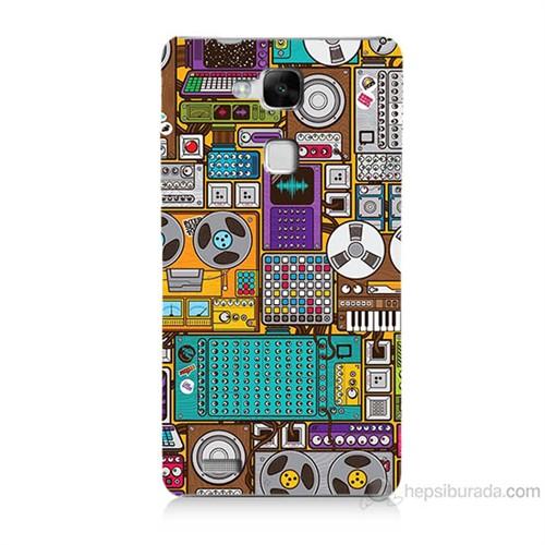 Teknomeg Huawei Ascend Mate 7 Teknoloji Baskılı Silikon Kılıf