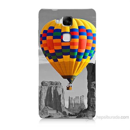 Teknomeg Huawei Ascend Mate 7 Renkli Uçan Balon Baskılı Silikon Kılıf
